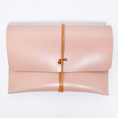 Gush Goods Leren Clutch Tas | Roze