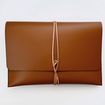 Gush Goods Leather Clutch Bag | Cognac