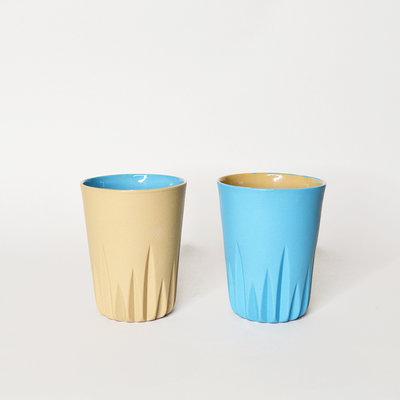 Kiwano Contrast Color Koffie Mok | Set van 2