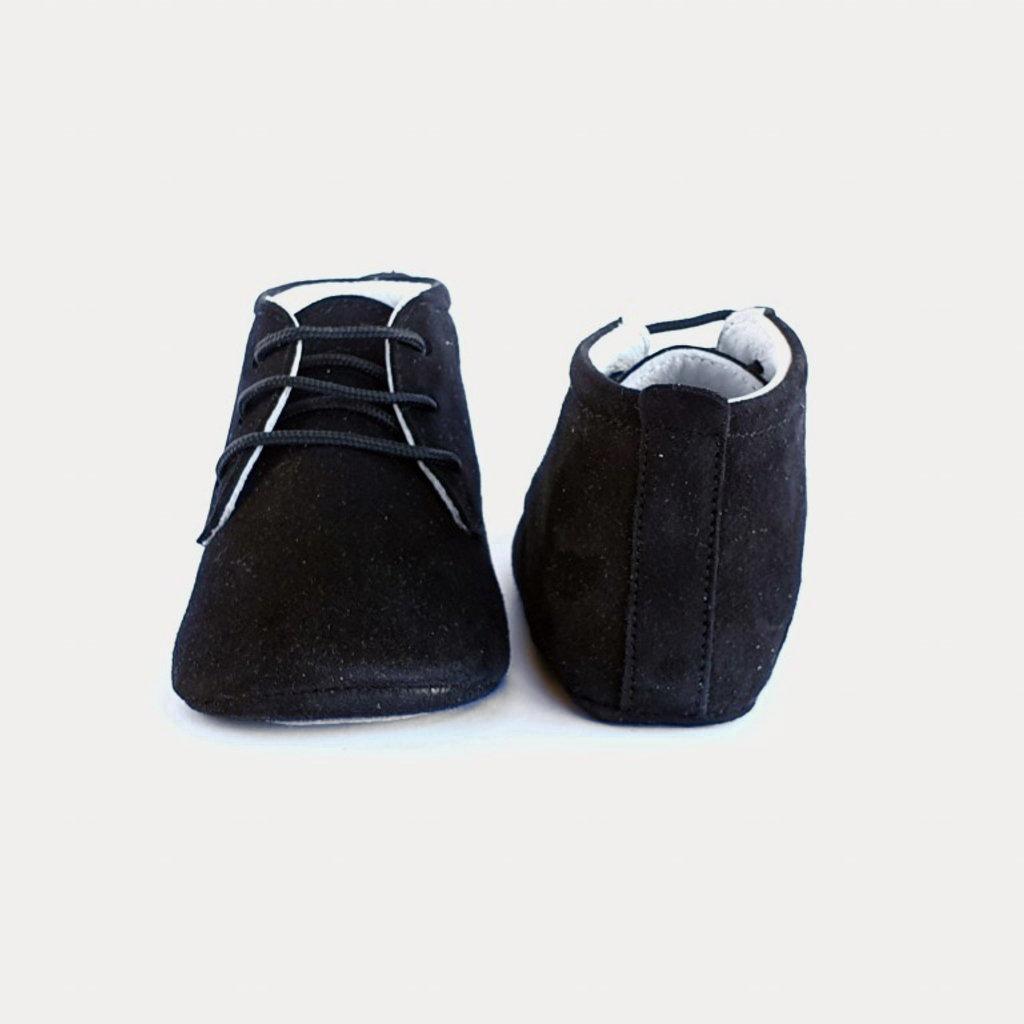 Baby Su Bubby Zwart Babyschoentje