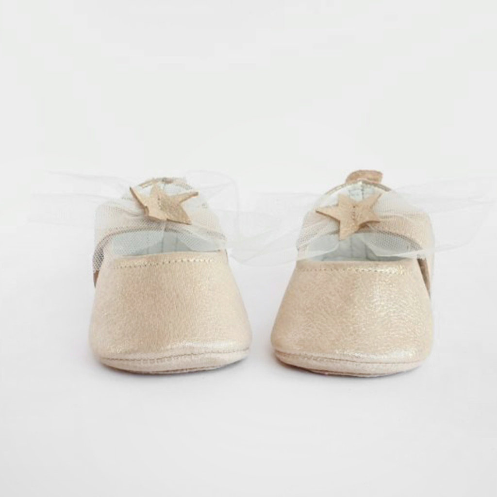 Baby Su Falling Star Baby Shoes Gold