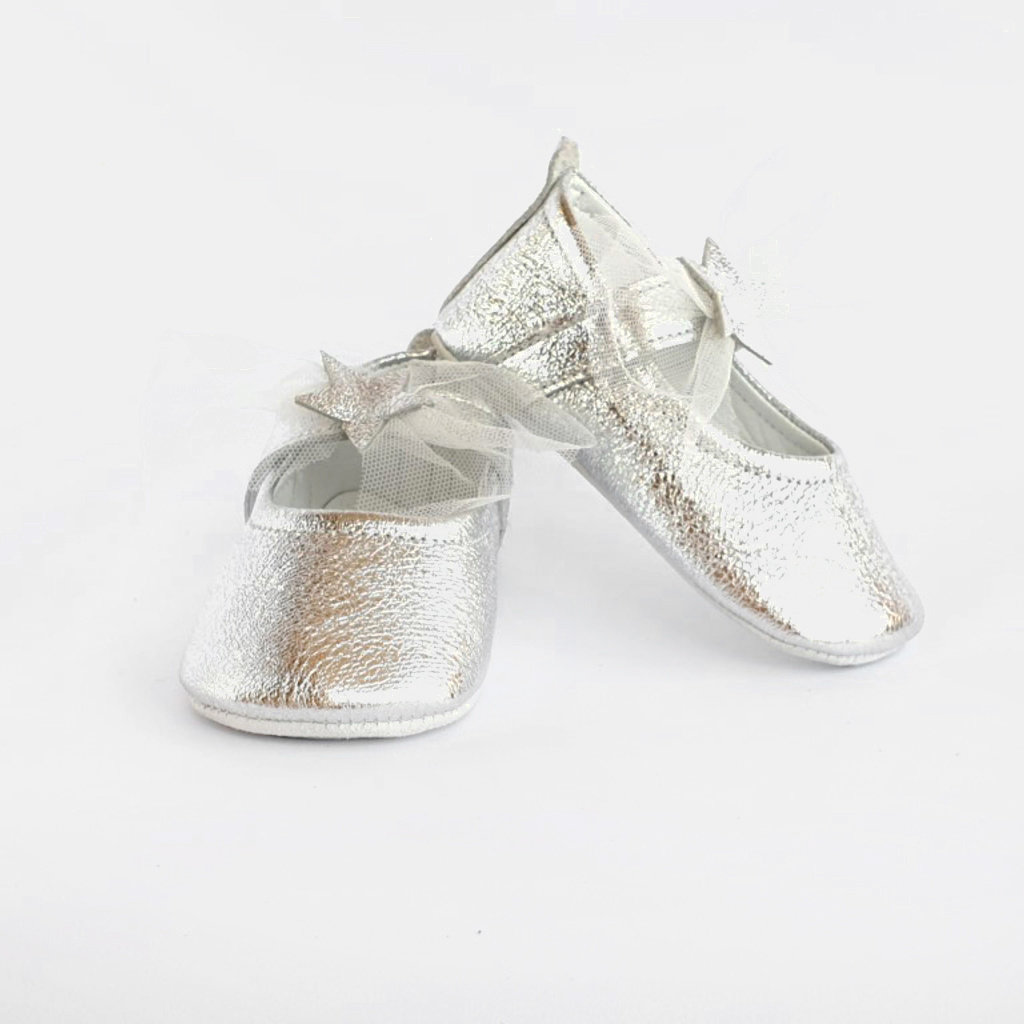 Baby Su Falling Star Babyschoentjes Zilver