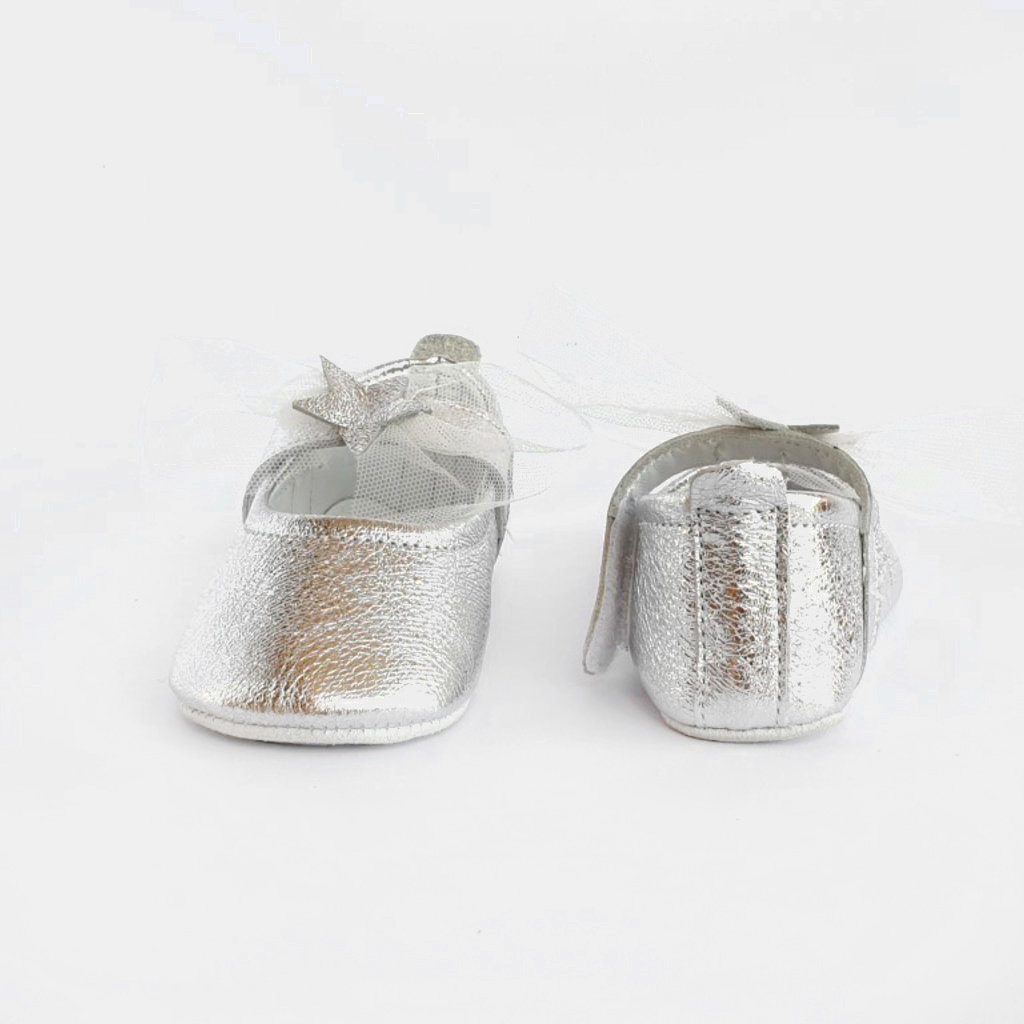 Baby Su Falling Star Baby Shoes Silver
