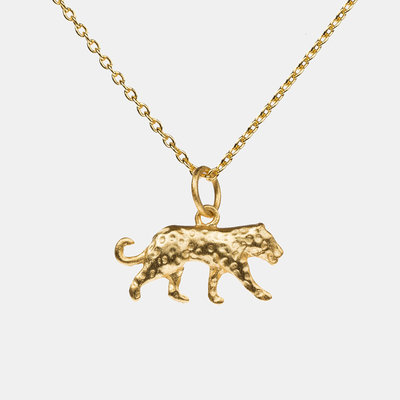 By Lauren Amsterdam Panther Necklace Silver Gold Coated