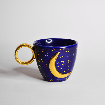 Kiwano Moon Cup with 24 ct. Gold Lustre   Medium