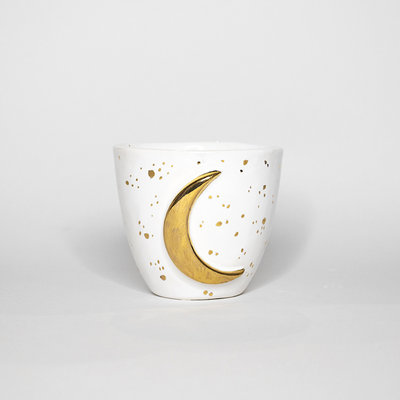 Kiwano Moon Cup with 24 ct. Gold Lustre | Large