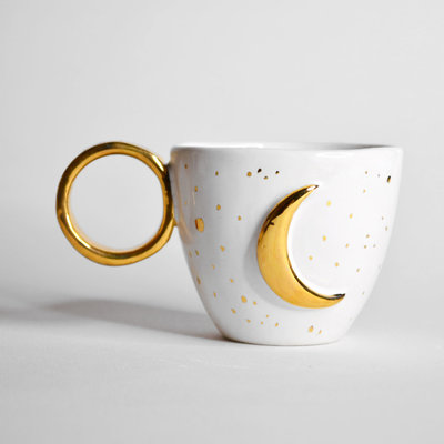 Kiwano Moon Cup with 24 ct. Gold Lustre | Small