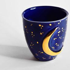 Kiwano Blauwe Maan Mok met 24 krt Goud Luster | Large
