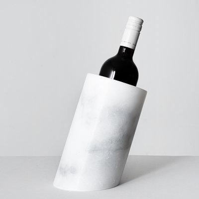 Kiwano White Marble Wine Cooler