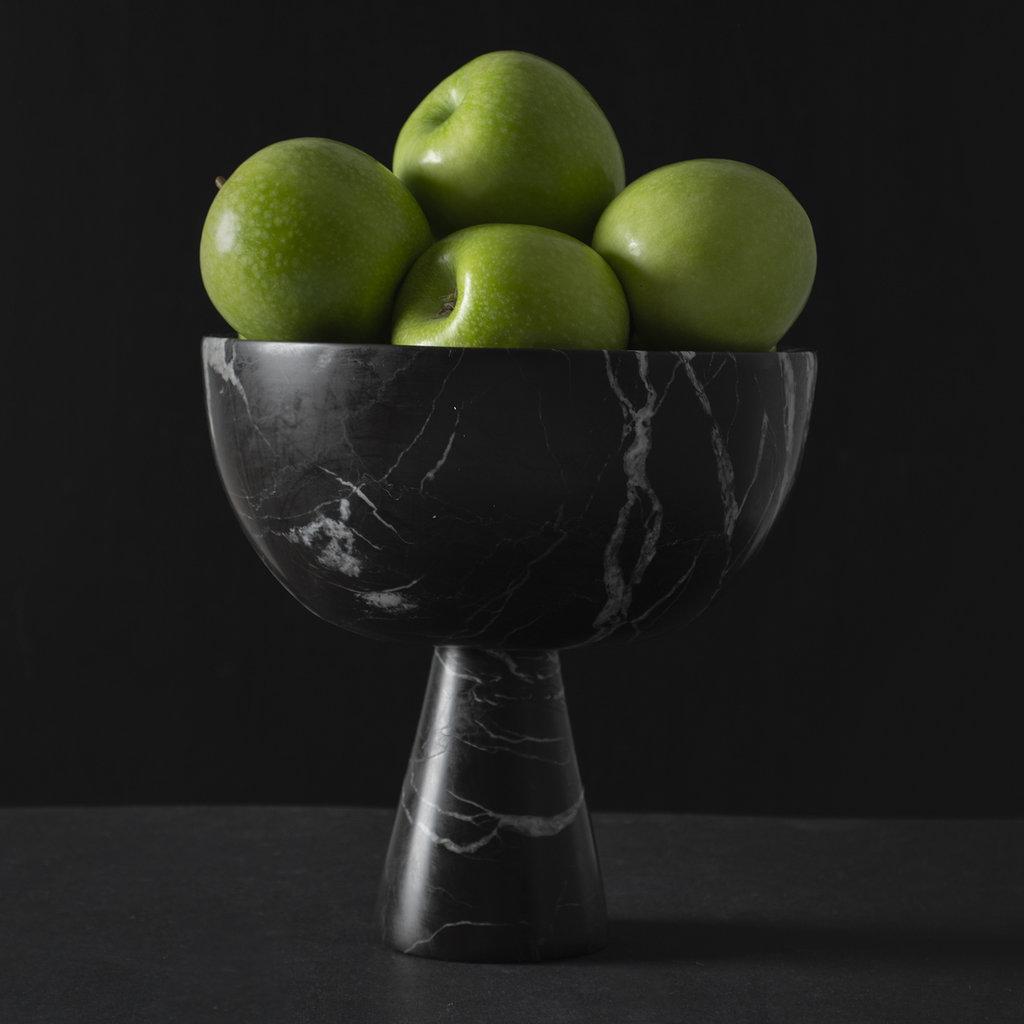 Kiwano Zwart Marmer Fruit Schaal