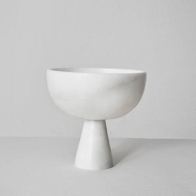 Kiwano Medium White Marble Bowl