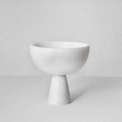 Kiwano White Mini  Marble Ice and Snack Cup