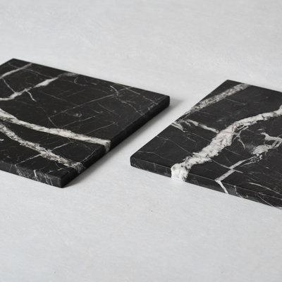 Kiwano Zwart Marmer Vierkant Serveer Plank