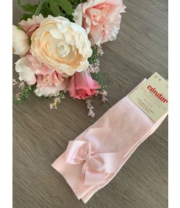 CONDOR  Knee highs with bow PINK