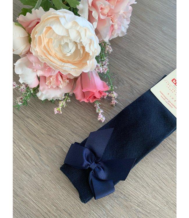 CONDOR  CONDOR | Knee socks with bow Navy blue
