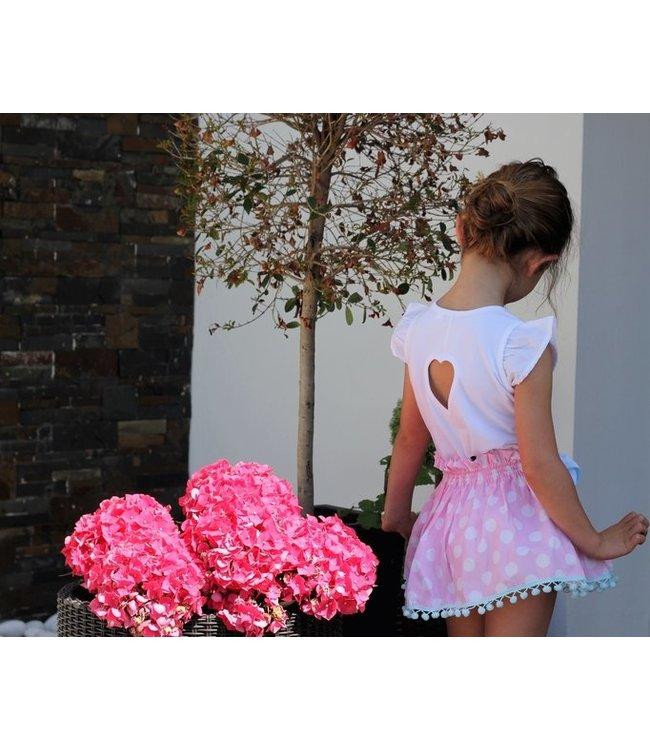 PHI CLOTHING PHI CLOTHING | Roze rokje met blauwe afwerking