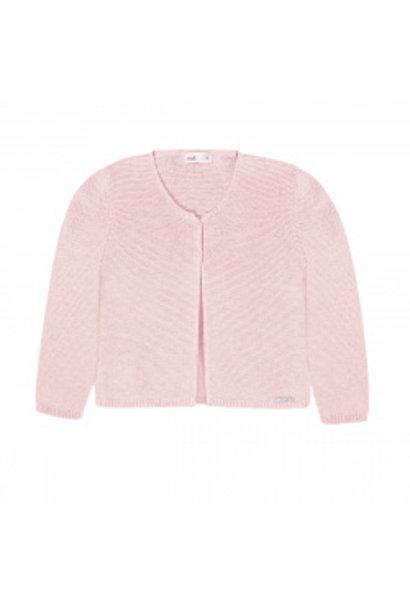 Fijn gebreide cardigan Roze