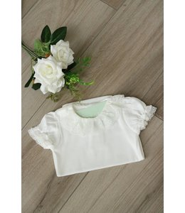 LAIVICAR Ivory body with full lace collar and short sleeves