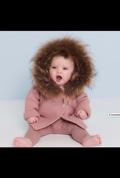 Prachtig vestje met natuurlijke pels - Oudroze