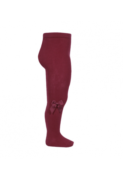 Stockings with bow Burgundy
