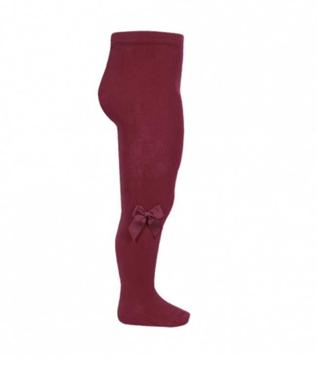 CONDOR   Stockings with bow Burgundy
