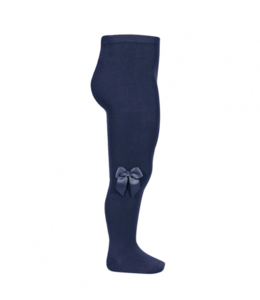 CONDOR  Stockings with bow Navy Blue