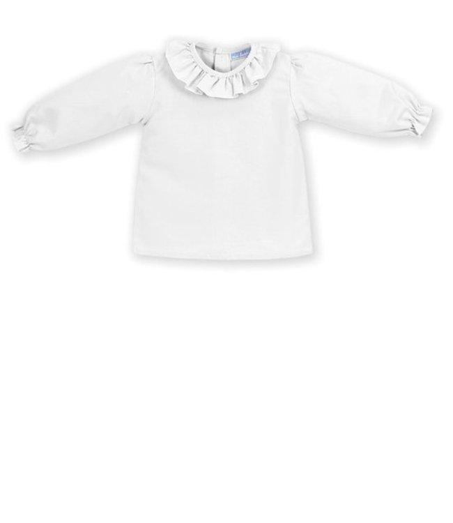 MAC ILUSION Cream blouse with plain collar