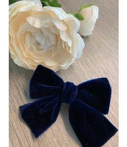 HELENA'S BOWTIQUE Helena's Bowtique | Velvet strik NAVY BLUE