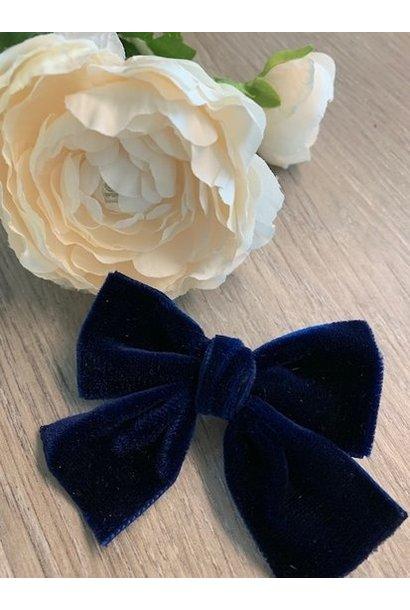 Helena's Bowtique | Velvet strik NAVY BLUE