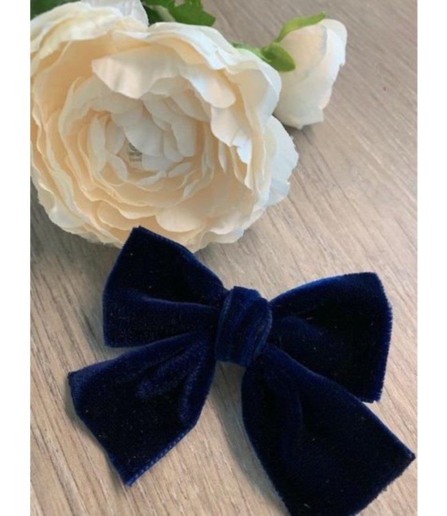 HELENA'S BOWTIQUE Helena's Bowtique   Velvet strik NAVY BLUE