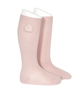 CONDOR  Knee highs with pompon Rosa Palo