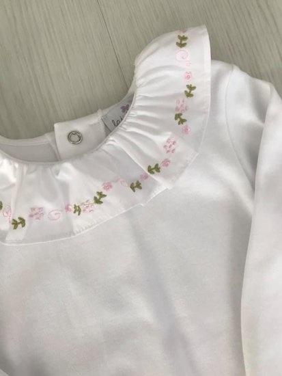 LAIVICAR   Witte body met roze en groene motiefje-1
