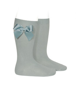 CONDOR  Knee socks with bow Dry-Green