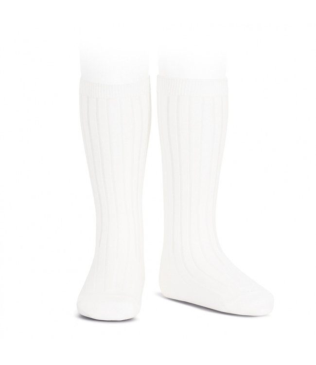 CONDOR  Condor | Knee socks with rib White