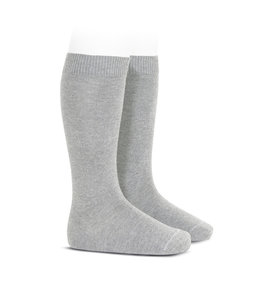 CONDOR  Knee socks without bow Light gray