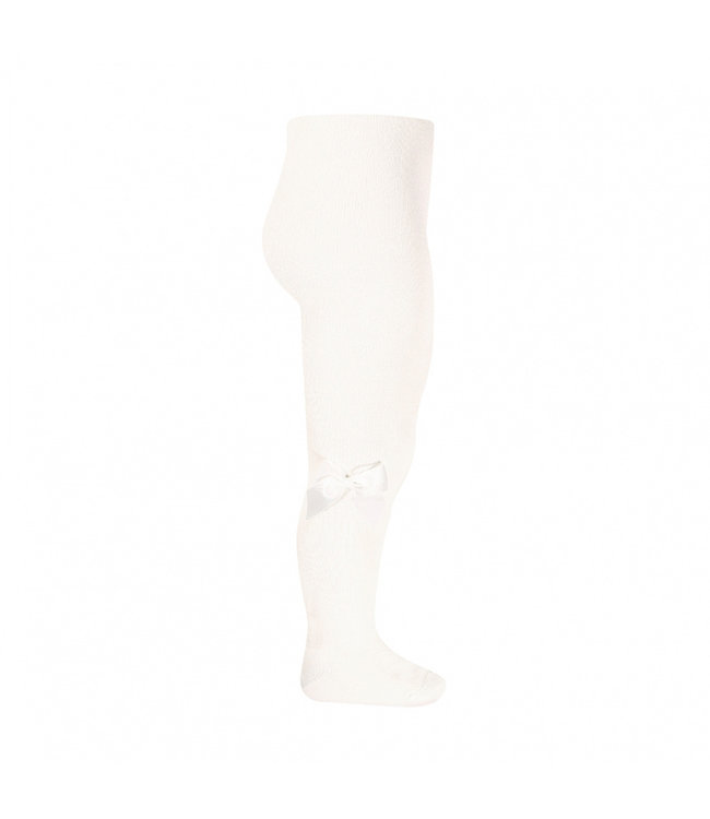 CONDOR  Stockings with bow off white