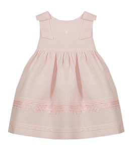 PATACHOU Beautiful pink dress with two bows on the shoulders