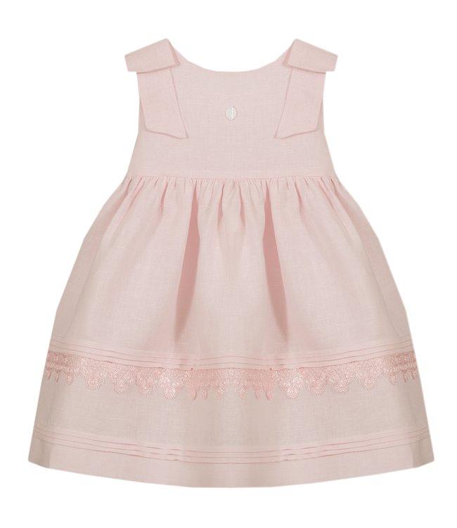 PATACHOU PATACHOU | Prachtig roze jurkje met twee strikken op de schouders