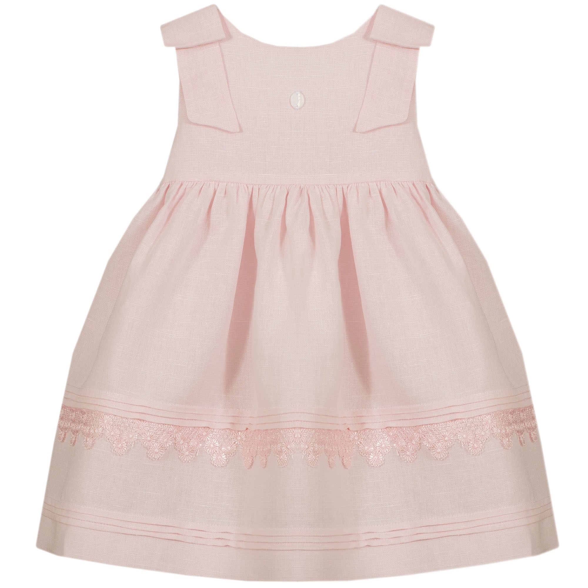 PATACHOU | Prachtig roze jurkje met twee strikken op de schouders-1