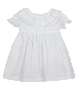 PATACHOU White dress with beautiful lace collar