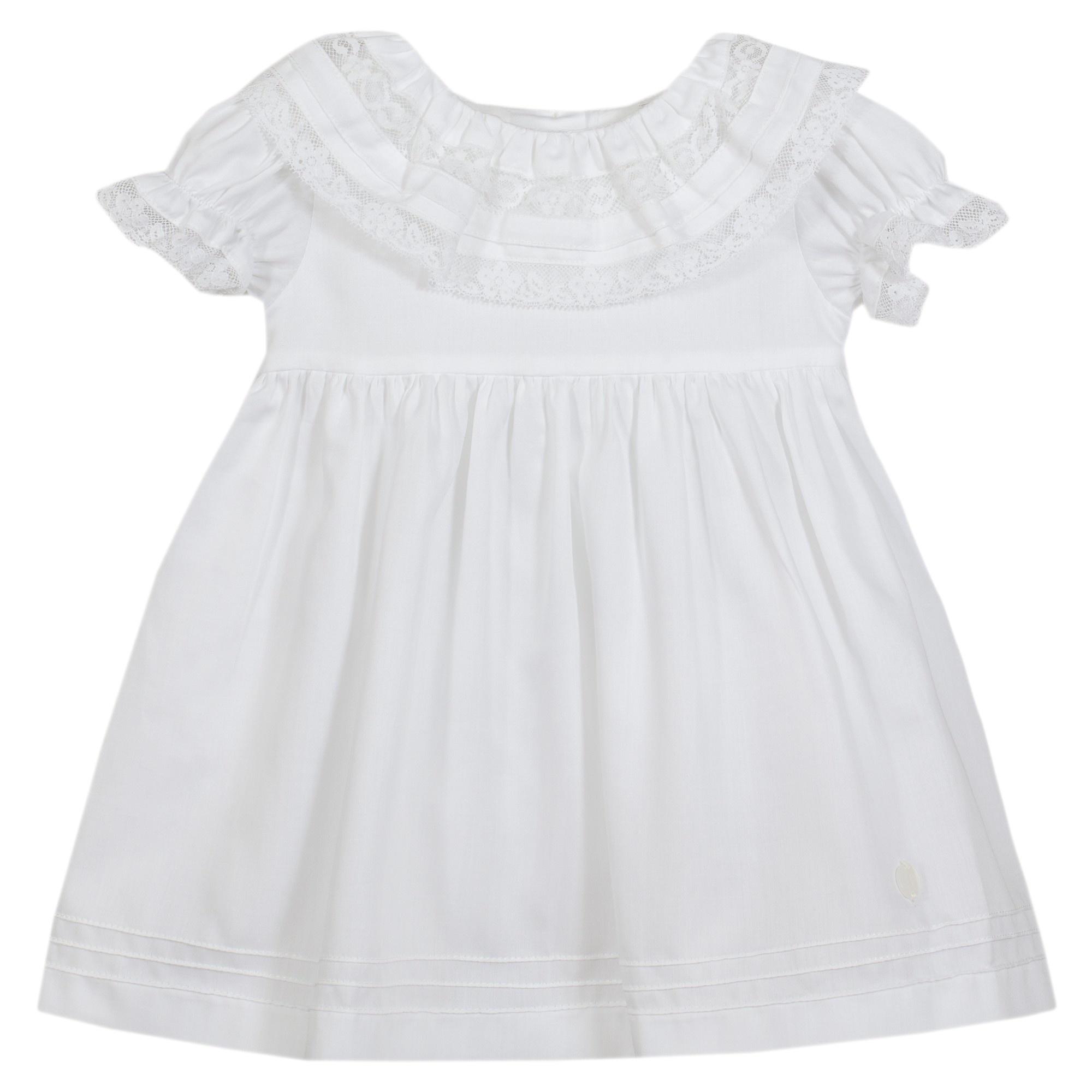 PATACHOU | Wit jurkje met prachtige kanten kraag-1