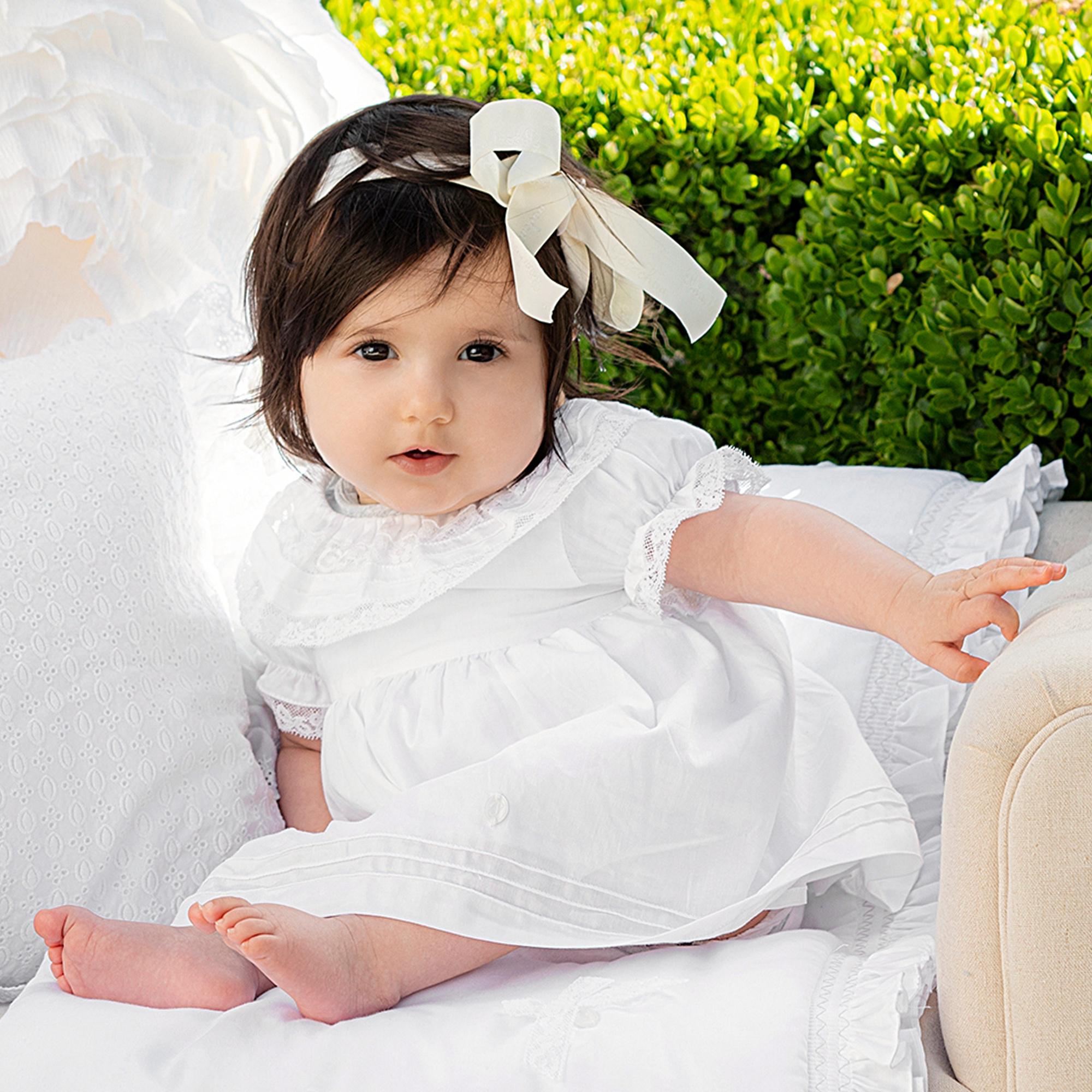 PATACHOU | Wit jurkje met prachtige kanten kraag-5
