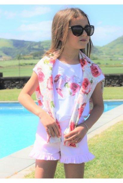 T- shirt met hartje in bloemenprint