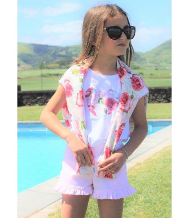 PHI CLOTHING T- shirt met hartje in bloemenprint