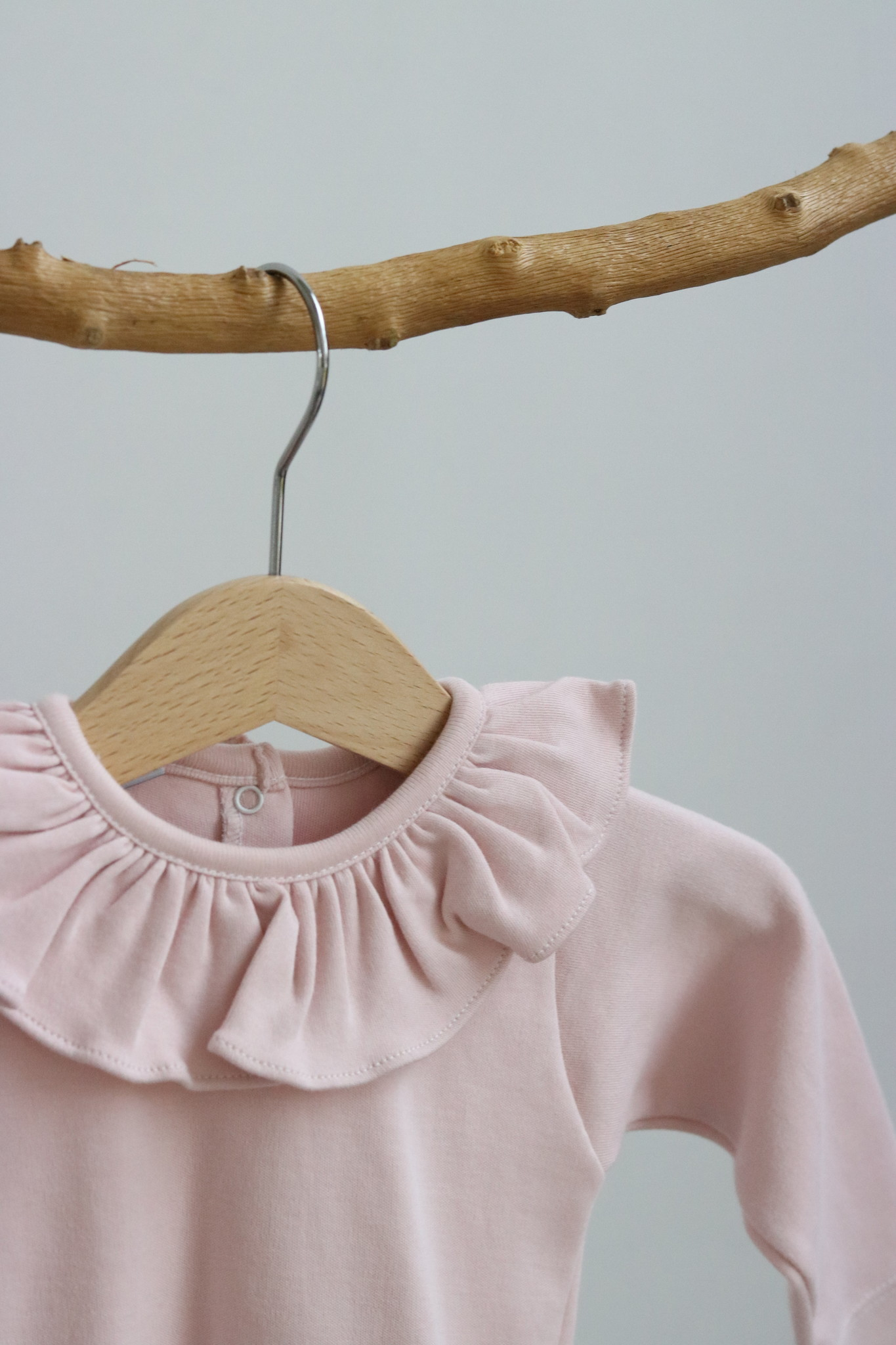 BABIDU | Roze body met effen kraag-3