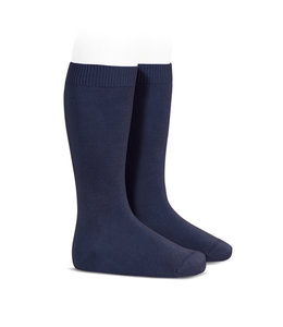 CONDOR  Knee socks without bow NAVY BLUE