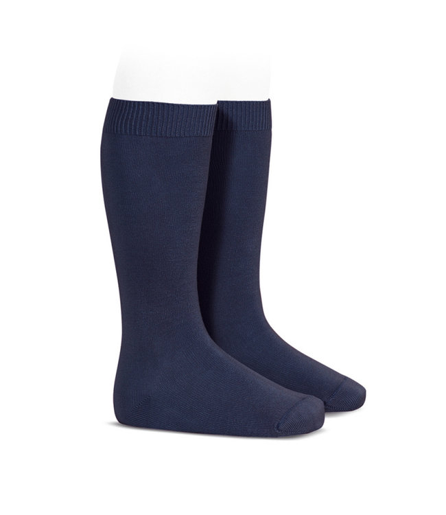 CONDOR  CONDOR |  Knee socks without bow NAVY BLUE