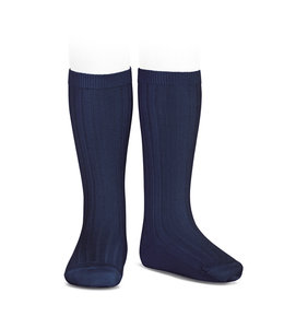 CONDOR  Ribbed knee socks Navy Blue