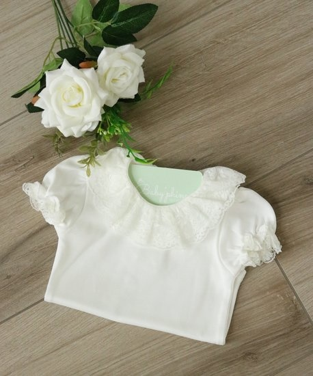 Ivory body with double collar and short sleeves-1