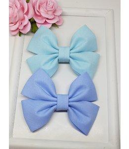 HELENA'S BOWTIQUE Cotton bow Sky blue